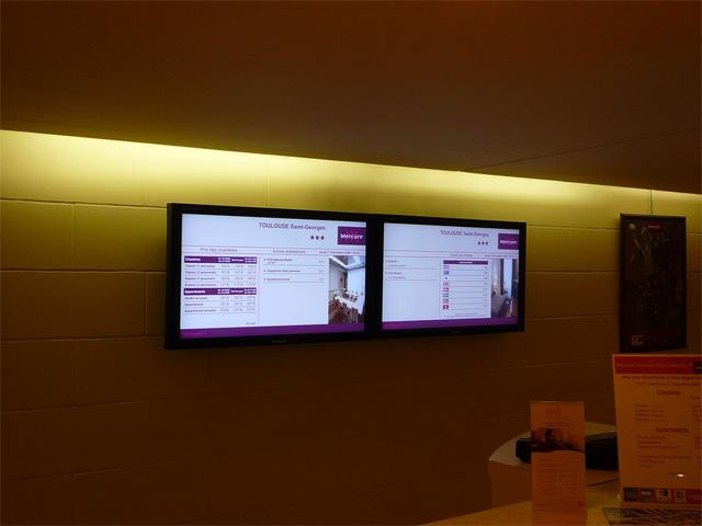 Advancecom - Écran TV d'information pendant vos évènements - informer pendant les congrès